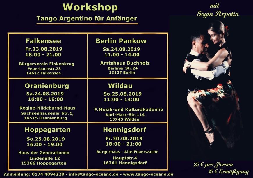 Workshop Tango Oceano