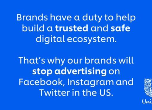 Brands stop advertising