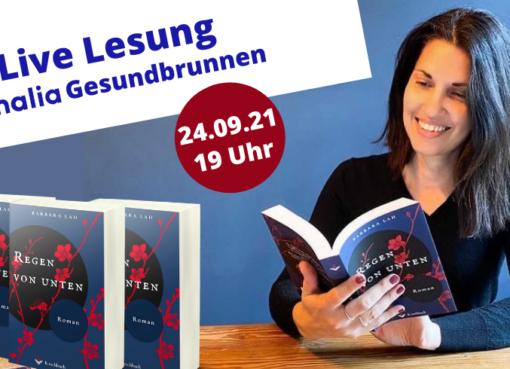 """Live Lesung aus dem Verlagsdebüt """"Regen von Unten"""" von Barbara Lah"""