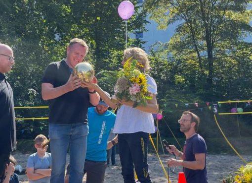 Campus Hannah Höch: Beachvolleyballfeld eingeweiht
