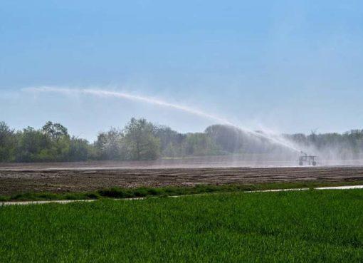 Künstlische Bewässerung in der Landwirtschaft